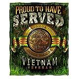 Army Throw Blanket - Military Coral Fleece Plush Throw Blanket - Army Surplus - MM2343-TB
