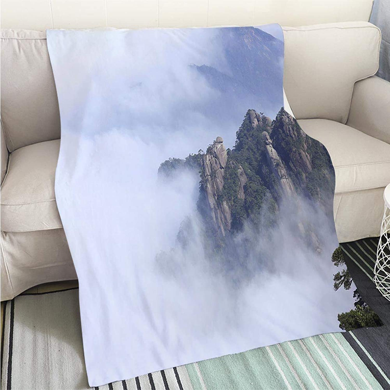BEICICI Super Soft Flannel Thicken Blanket Landscape of Mountains Sofa Bed or Bed 3D Printing Cool Quilt