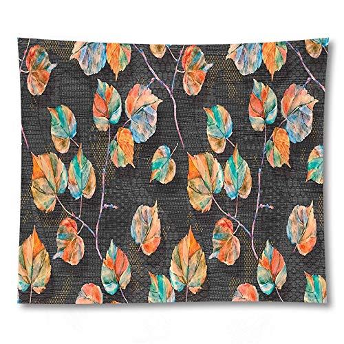 PPOU Tapiz de Hoja Verde Sala de Estar Dormitorio Planta Tropical impresión Colgante de Pared Boho Tapiz Decorativo Tela de Fondo A21 150x200cm