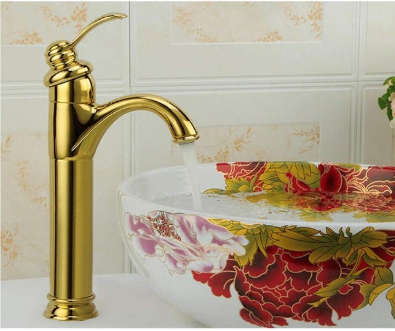 Lddpl Basin Faucet Brass Antique Bronze gold Contemporary Bathroom Sink Faucet Single Handle Deck Mounted Bath Toilet Mixer Water Taps