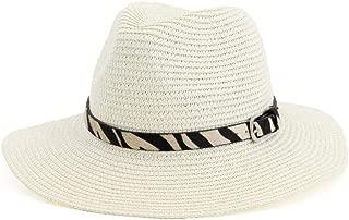LiWen Zheng Straw Hat Top Hat Outdoor Beach Hat Sun Visor Fashion Cow Sun Hat Leather Leather Belt Travel Hat Jazz Hat