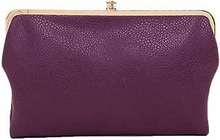 cheap double frame clutch wallet