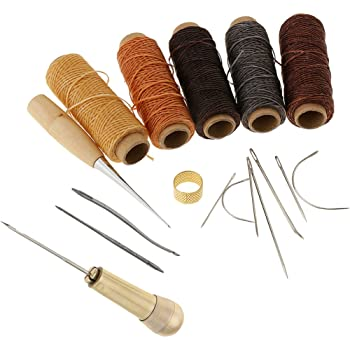 1set Sewing Needle Awls Leather craft Stitching Hole Punchings Shoe Repair NA