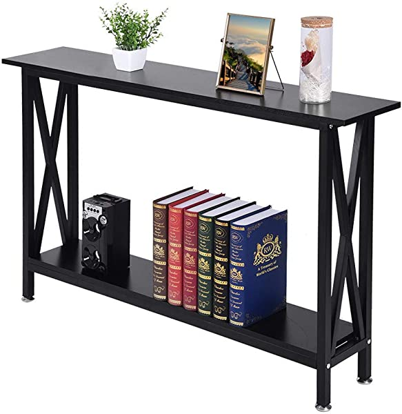 Bar Table Folding Writing Computer Desk Home Office PC Laptop Table Multipurpose Workstation With Solid Steel Frame Waterproof Desktop Ship From US