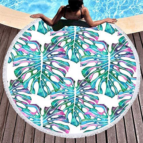 Vanzelu strandhanddoek meisje, zomer sjaal print grote ronde kwast strand deken, 150 cm blad