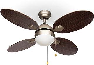 KLARSTEIN Valderama – Ventilador de Techo, 2 en 1: Ventilador de Techo con lámpara, 42