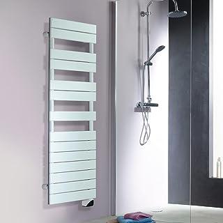 Radiador con toallero eléctrico FASSANE SPA, ref TFAS-075-050, color blanco
