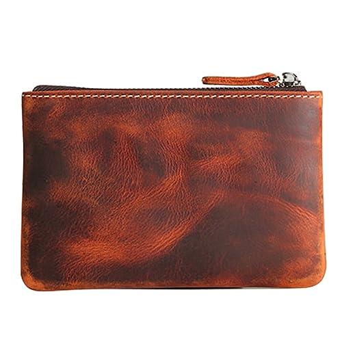 2fedf73669c6 Coin Purse Pouch Fmeida Men s Leather Zipper Change Holder Slim Wallet