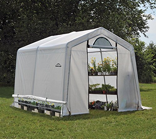 ShelterLogic Foliengewächshaus, 9 m² Grow It - weiß - in-a-Box