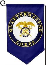 BJHYQSMQ US Army Veteran Quartermaster Garden Flag,Party Flag