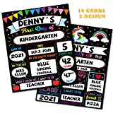 First Day of School Board, 16 Pcs Back to School Board Sign for First Day Last Day of School, My First Day Chalk Board Sign Photo Prop, 9x12 inch Reusable Double Sided Photo Prop for Girl Boy Kid