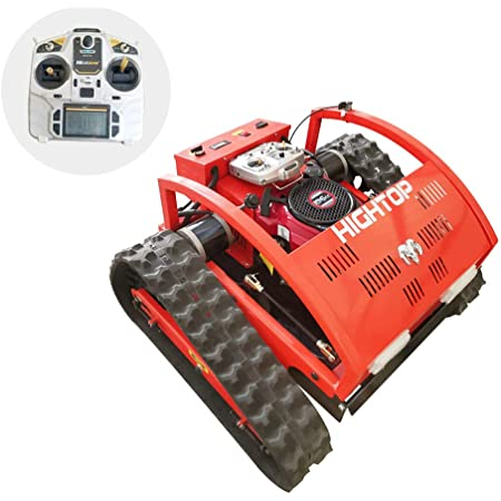 Remote Control Lawn Mower,4 Stroke,Hybrid Oil and Electricity, Crawler Grass Cutter, Weeding 2000 Square Meters per Hour, Chassis Lifting at Will, 200-meter Radius controllable