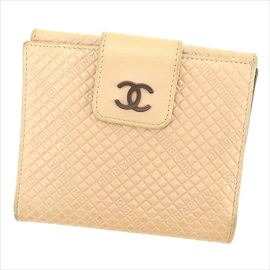 無一文意気込みブレース(シャネル) Chanel Wホック財布 二つ折り 財布 ピンク×ブラウン レディース 中古 T1617