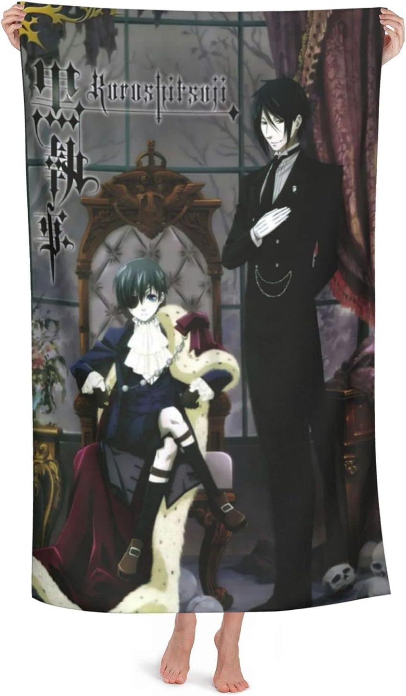 Black Butler Anime Super sale Max 75% OFF period limited 3D Beach Microf Towel Towels Pool Bath