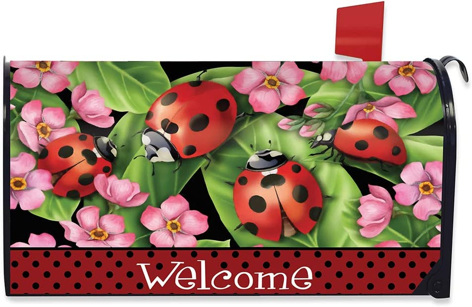 Briarwood Lane Max 76% OFF Ladybugs on Leaves Genuine Cover Spring Magnetic Mailbox