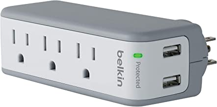Belkin BST300 3-Outlet USB Surge Protector w/Rotating Plug� Ideal for Mobile Devices, Personal Electronics, Small Appliances and More (918 Joules)