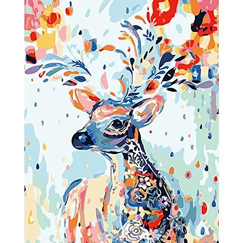 gracosy Malen Nach Zahlen Tierbild DIY Ölgemälde Leinwand Handgemalt Enthält Acrylfarben Leinwand und 3 Pinsel Arts Craft Home Wand-Decor, für Erwachsene Kinder und Anfänger,16x20 No Frame