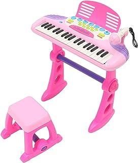 Pink 37 Key Kids Electronic Keyboard Piano Organ Toy/Microphone Music Play BIAOYAN-SA