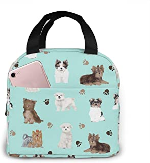 Sponsored Ad - antspuent Yorkie Maltese Biewer Terriers Dogs Lunch Bag for Women Girls Kids Insulated Picnic Pouch Thermal...
