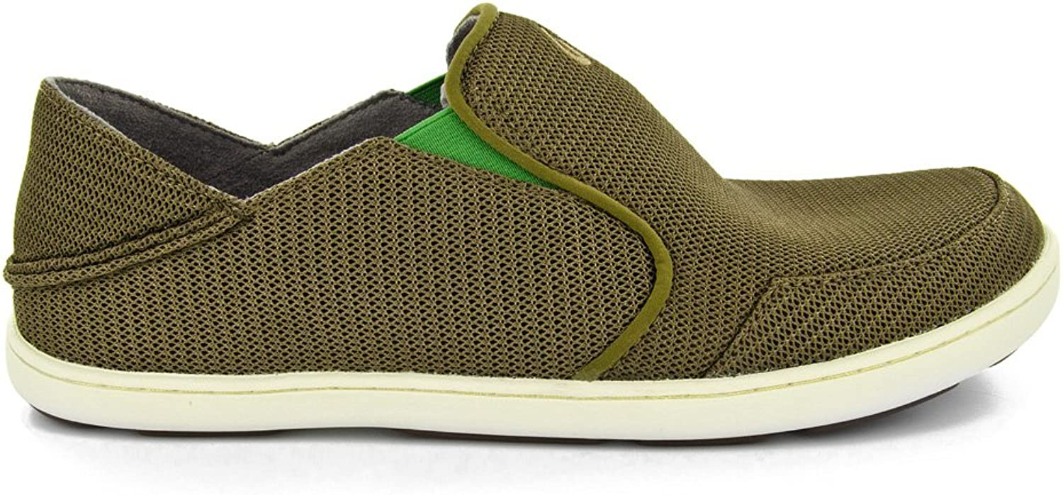 OluKai Nohea Mesh shoes - Men's Mustang   Lime Peel 9