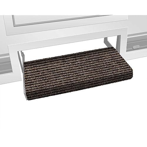 100 Polyester Camco 42906 Brown Premium Wrap Around Rv Step Rug 17 5 X 18 Formtech Inc Com