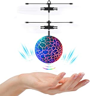 Hand Operated Drones, ONXE Interactive Infrared Induction Indoor Helicopter Ball with Shinning LED Lights,Hand-Controlled ...