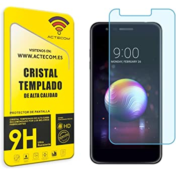 actecom® Cristal Templado Protector Pantalla 9h 2.5D para LG K11 ...