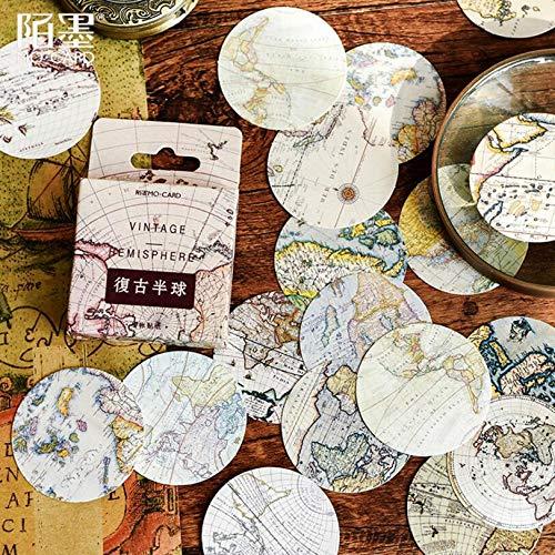 Reative Vintage Poster Map Reizen rond de wereld decoratieve briefpapier Stickers Scrapbooking Diy dagboek Album Stick Lable 46 stks