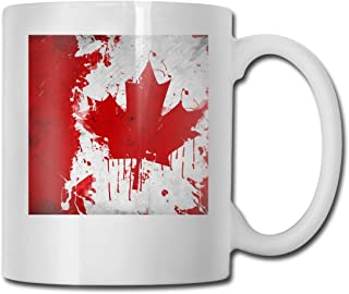 Bmmxcfcxz cmczxdsak Summer Canada Flag Funny Gifts Coffee Mug with Coffee/Tea/Cocoa Mug-Unique Coffee Cup&Present Idea for Male/Female/Bosses/Coworkers