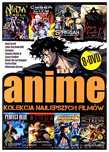 Kolekcja najlepszych filmĂlw anime: Ninja scroll / Cyber City Odeo 808 / Spriggan / Vampire Hunter D. / Space Firebird / Blood the last vampire / Perfect Blue / Millenium Actress [BOX] [8DVD] (Nessuna