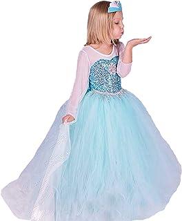 comprar comparacion ELSA & ANNA® Princesa Disfraz Traje Parte Las Niñas Vestido (Girls Princess Fancy Dress) ES-FR314 (5-6 Años, ES-FR314)
