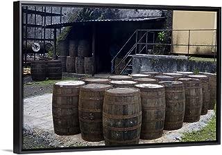 CANVAS ON DEMAND Martinique. French Antilles. West Indies. J.M. Distillery in Macouba. Oak Barrels Black Floatin.