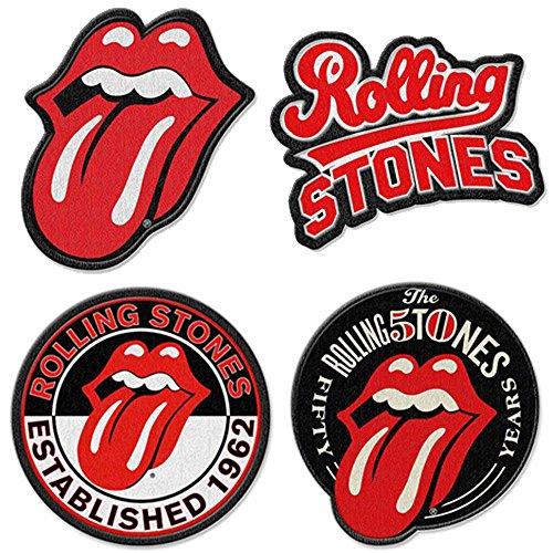 The Rolling Stones Aufnäher zum aufbügeln Patch Motive 4er Set