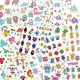EKKONG 25pcs Tatouage Enfant, Animal Tatouage Temporaire - 375 Étanche Tatouage Ephemere pour Fille garçons Enfants de fête d'anniversaire Cadeau