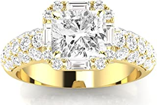 Best halo diamond ring yellow gold Reviews
