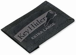 Lucky Line Key Hider Pouch, XL, Velcro Nylon Adhesive Black (91301)