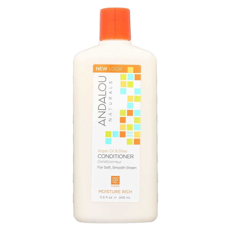 抽象化シャーチェスをする: Andalou Naturals, Moisture Rich Conditioner, Argan & Sweet Orange, 11.5 fl oz (340 ml)