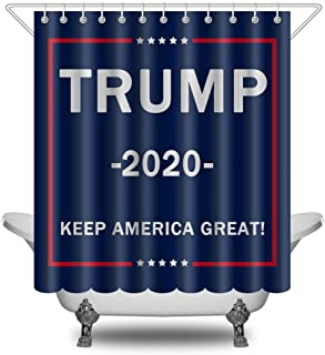 Make America Great Again Shower Curtain Donald Trump 2020 Keep America Waterproof Polyester Fabric Shower Curtain for Bathroom Sets with Hooks 66 X 72 Inches (Trump MAGA 6)
