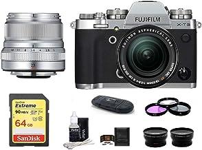 $2349 Get FUJIFILM X-T3 Mirrorless Digital Camera with XF 18-55mm f/2.8-4 R LM OIS Zoom + XF 23mm f/2 R WR Lenses (Silver) Bundle, Includes: SanDisk 64GB Extreme SDXC Memory Card, Card Reader + More