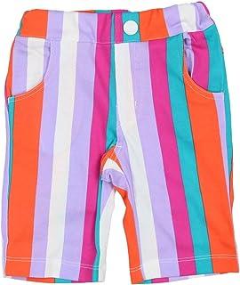 【子供服】 Caldia (カルディア) マルチストライプ柄6分丈パンツ 90cm A31102