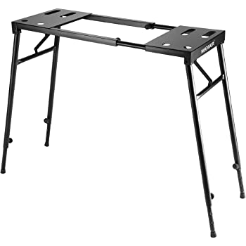 """Neewer Collapsible Piano Keyboard Stand for 61-key / 76-key / 88-key Keyboard with Adjustable Height from 25.6""""to 43.3""""/65cm to 110cm and Length from 29""""to 51.2""""/73cm to 113cm, Black"""