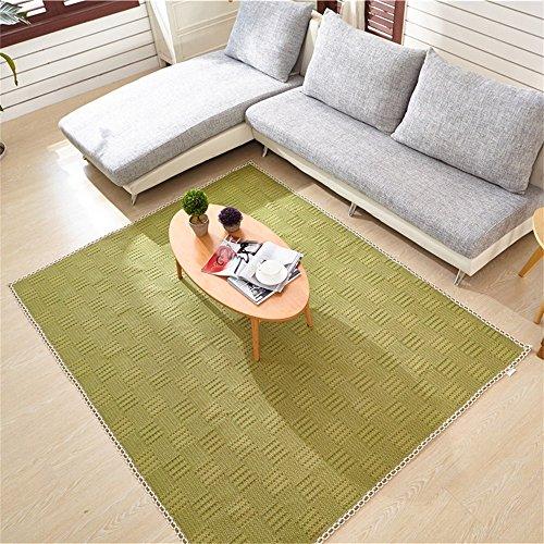 Moquettes tapis et sous-tapis Coton Bébé Enfant Crawling Carpet Salon Chambre à coucher Couvre-lit Tapis Tapis Vert (taille : 60 * 90cm)