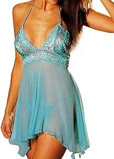 Plus Size Women's Sleepwear, Super Sexy Lingerie Lace Dress Underwear Temptation Nightdress