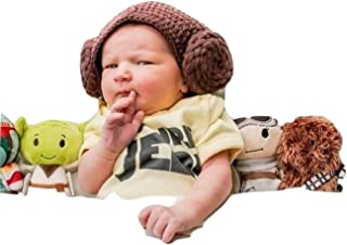 princess leia crochet baby hat