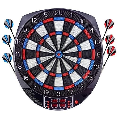 FITTIME Elektronische Dartscheibe,Aktualisierte Version Dartscheibe Elektronisch Profi,E Dartboards LCD Scoring Indicator Target Board mit 6pcs Darts