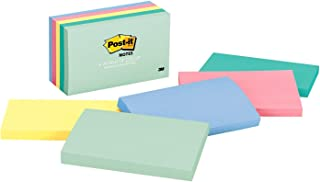 Post-it Notes, America's #1 Favorite Sticky Note, 3 in x 5 in, Marseille Collection, 5 Pads/Pack (655-AST)