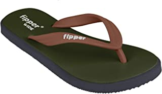 fipper Men's Rubber Thongs, Style: Wide, UK 7-11 / US 8-12, Lengths 26cm to 30.5cm