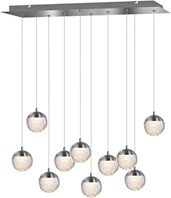 Amazon.com: Beehive 6-Light Rectangular Pendant Fixture in ...
