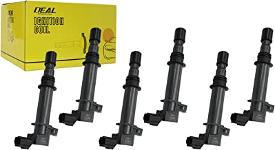 DEAL Pack of 6 New Ignition Coils For Dodge Dakota Durango Nitro Ram 1500 - Jeep Commander Liberty Grand Cherokee - Mitsubishi Raider 3.7L V6 Replacement# UF399 UF297 UF270