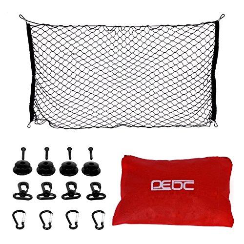 DEDC Red Elástica de Almacenaje para Maletero de Coche 100x60cm Horizontal Red de Malla de Nylon Organizador para Coche